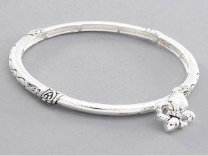 Bracelet with Fleur de Lis Charm