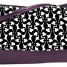 Fleur de Lis Double Handle Diaper Bag