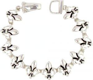 Contrast Fleur de Lis Toggle Bracelet