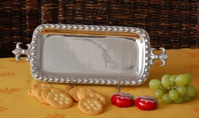 Fleur De Lis Small Rectangle Tray