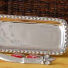 Fleur De Lis Small Rectangle Tray w/spreader