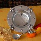 Fleur De Lis Dip Bowl w/ Spoon