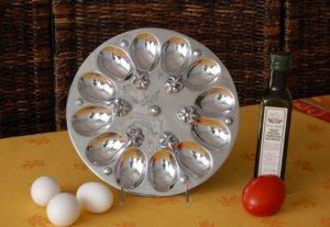 Fleur De Lis One Dozen Egg Plate