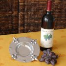 Fleur De Lis Wine Coaster/Candle Holder