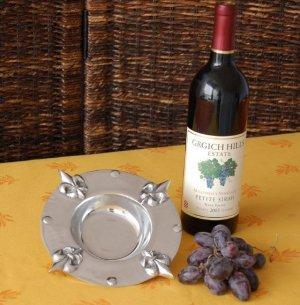 Fleur De Lis Wine Coaster/Candle Holder