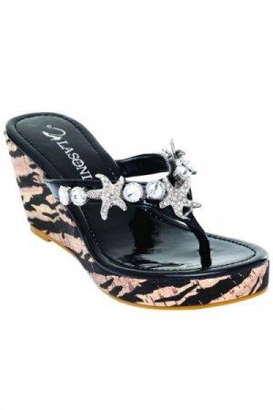 La Sonia Thong Wedge - Size 9