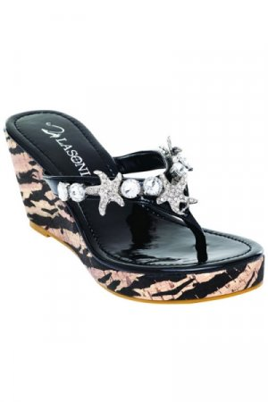 La Sonia Thong Wedge - Size 8