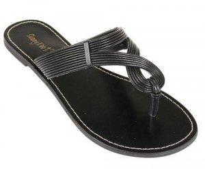 Sunny Feet Slip On Thong Sandal - Black