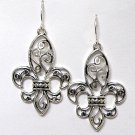 FILIGREE FLEUR-DE-LIS EARRINGS