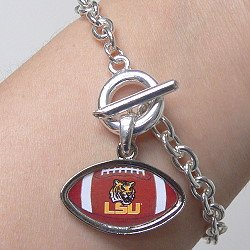LICENSED LSU FOOTBALL BRACELET