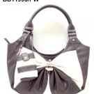 Pewter and White Bow Handbag