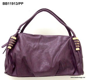 "Purple & Gold ""Leather"" Handbag"