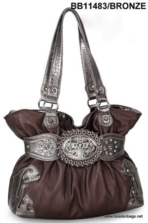 Bronze Cross Handbag