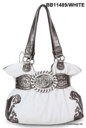 White Cross Handbag