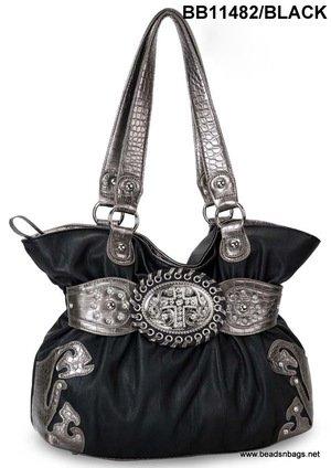 Black Cross Handbag