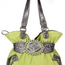 Lime Cross Handbag