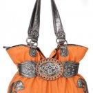 Orange Cross Handbag