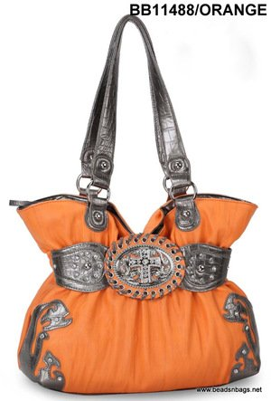 Orange Cross Handbag