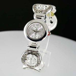 Fleur de Lis Coin Cuff Band Watch