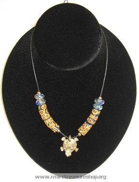"""24"""" Turtle in Water Necklace - Item#: AC-1H1"""