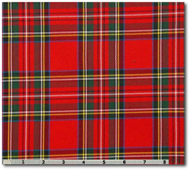 Royal Stewart Tartan Fabric By The Yard 65 Polyester 35