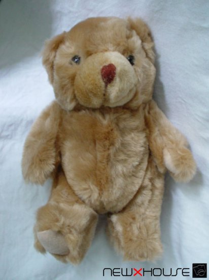 Little Happy Nice Cute Brown Teddy Bear Lovely Plush 8""