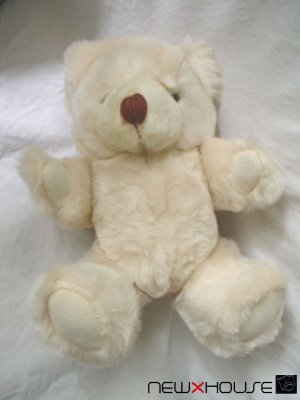 Little Happy Nice Cute Ivory Teddy Bear Lovely Plush 8""
