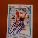 2008 Bowman DP&P Carlos Carrasco