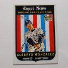 2008 Topps Heritage Alberto Gonzalez
