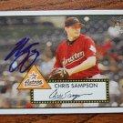 2006 Topps '52 Chris Sampson Autograph