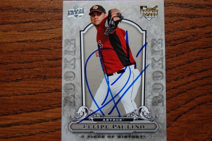 2008 Upper Deck Piece of History Felipe Paulino Autograph