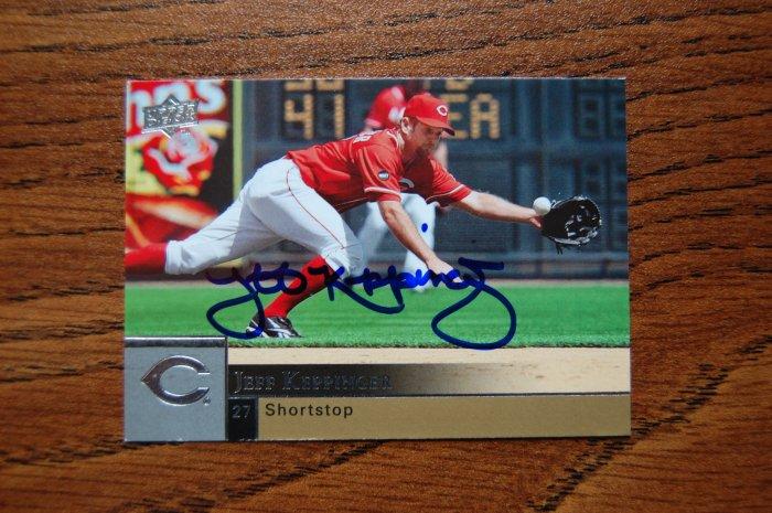 2009 Upper Deck Series 1 Jeff Keppinger Autograph