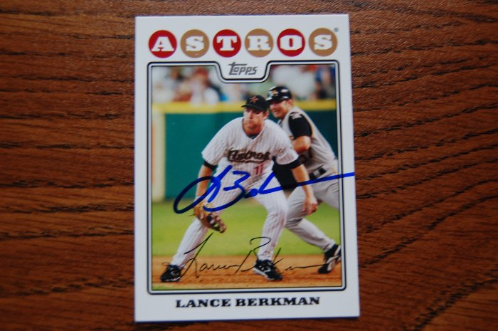 2008 Topps Series 2 Lance Berkman Autograph