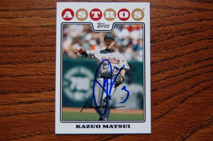 2008 Topps Series 2 Kazuo Matsui Autograph