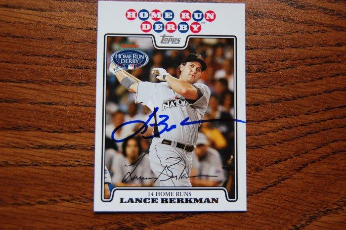 2008 Topps Update Lance Berkman Autograph