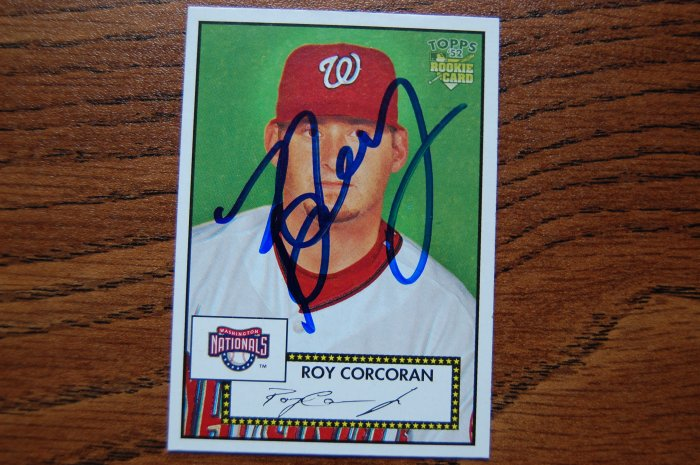 2006 Topps '52 Roy Corcoran Autograph