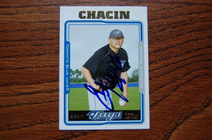 2005 Topps Update Gustavo Chacin Autograph