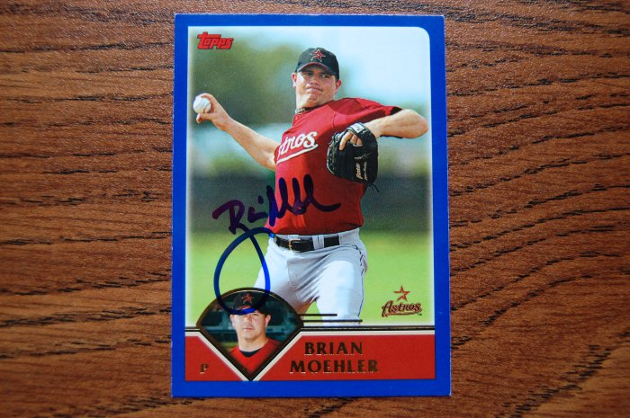 2003 Topps Series 2 Brian Moehler Autograph