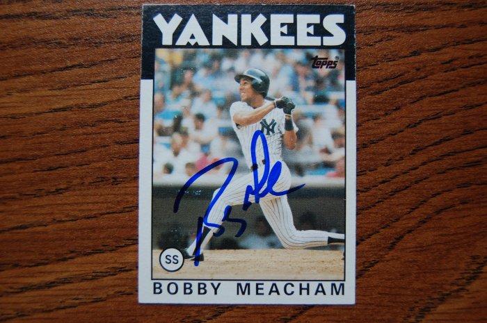1986 Topps Bobby Meacham Autograph
