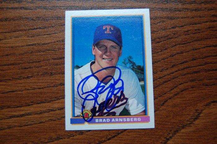 1991 Bowman Brad Arnsberg Autograph