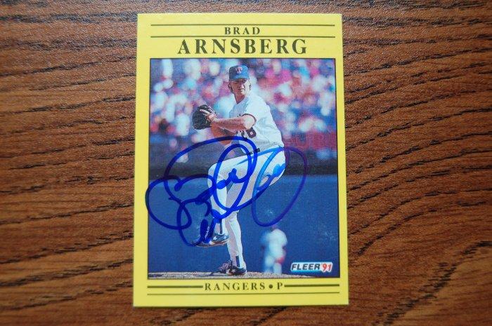 1991 Fleer Brad Arnsberg Autograph