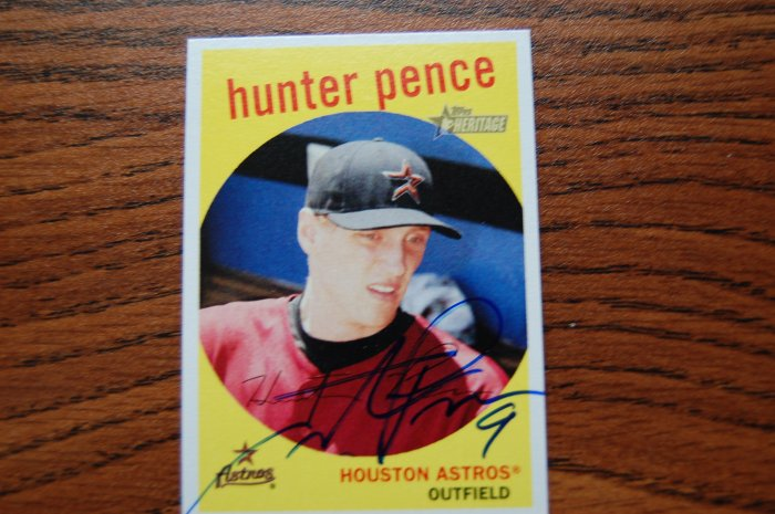 2008 Topps Heritage Hunter Pence Autograph