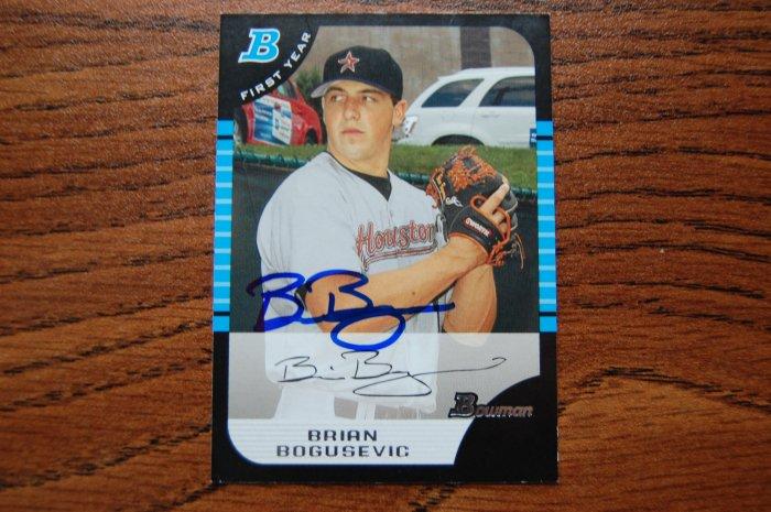 2005 Bowman Draft Brian Bogusevic Autograph