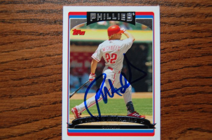 2006 Topps Series 1 Jason Michaels Autograph