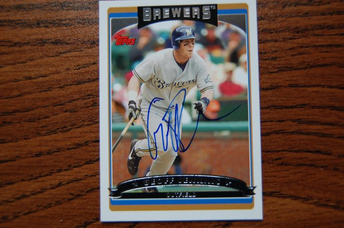2006 Topps Series 1 Geoff Jenkins Autograph