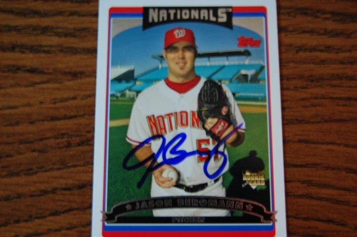 2006 Topps Series 2 Jason Bergmann Autograph