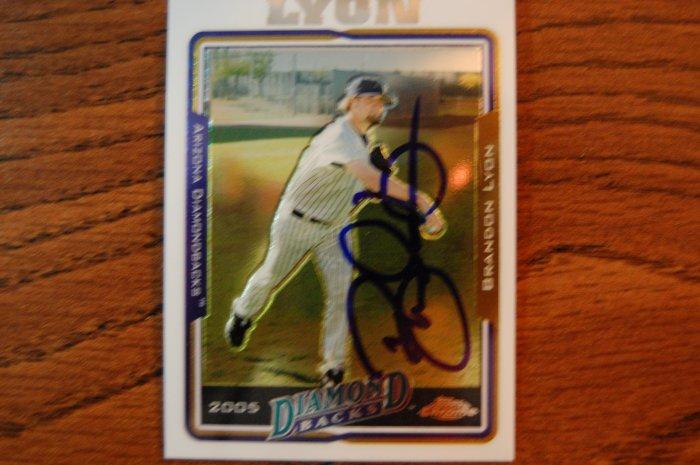 2005 Topps Chrome Brandon Lyon Autograph