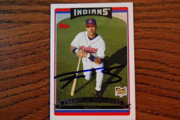 2006 Topps Update Franklin Gutierrez Autograph