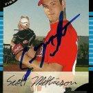 2005 Bowman Scott Mathieson Autograph