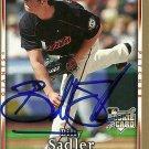 2007 Upper Deck First Edition Billy Sadler Autograph